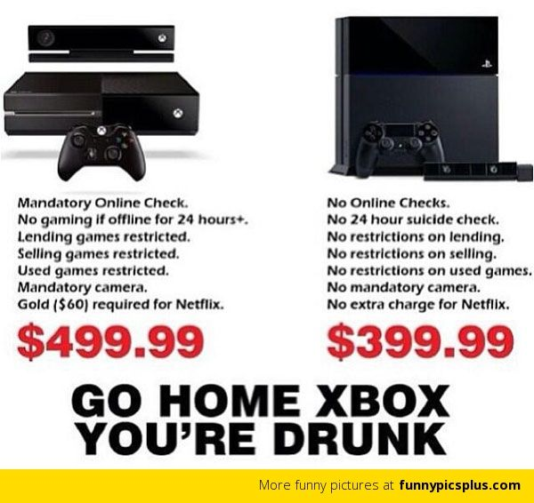 Ps Vs Xbox One Meme Funny Ps Vs Xbox One Jokes Share Yours Too Redflagdeals Com