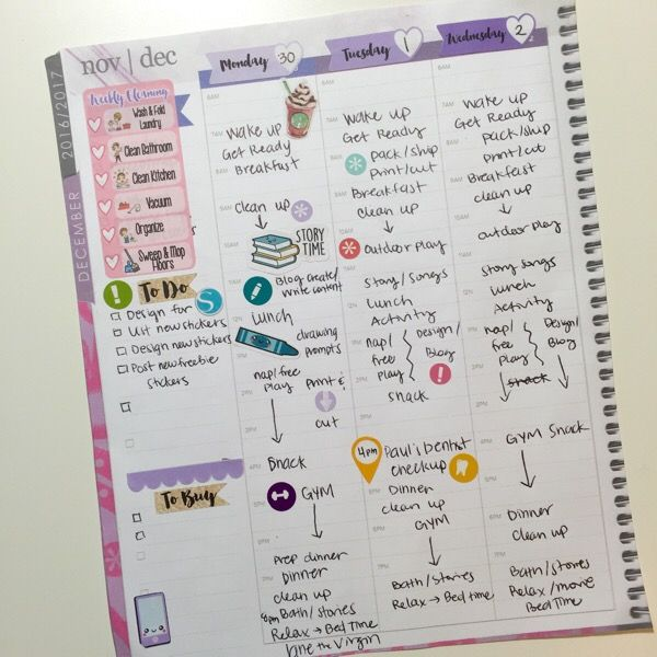 It's Okay to Plan without Stickers or Washi