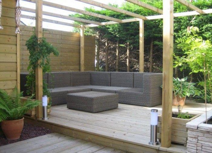 Overdekt terras met lounge garden tuin pinterest for Overdekt terras