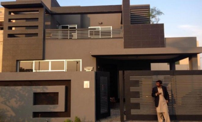 Faseeh estate offer 10 marla brand new house with park for 4 marla house front design