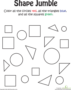 Shape Jumble | Pinterest | Coloring worksheets, Worksheets and ...