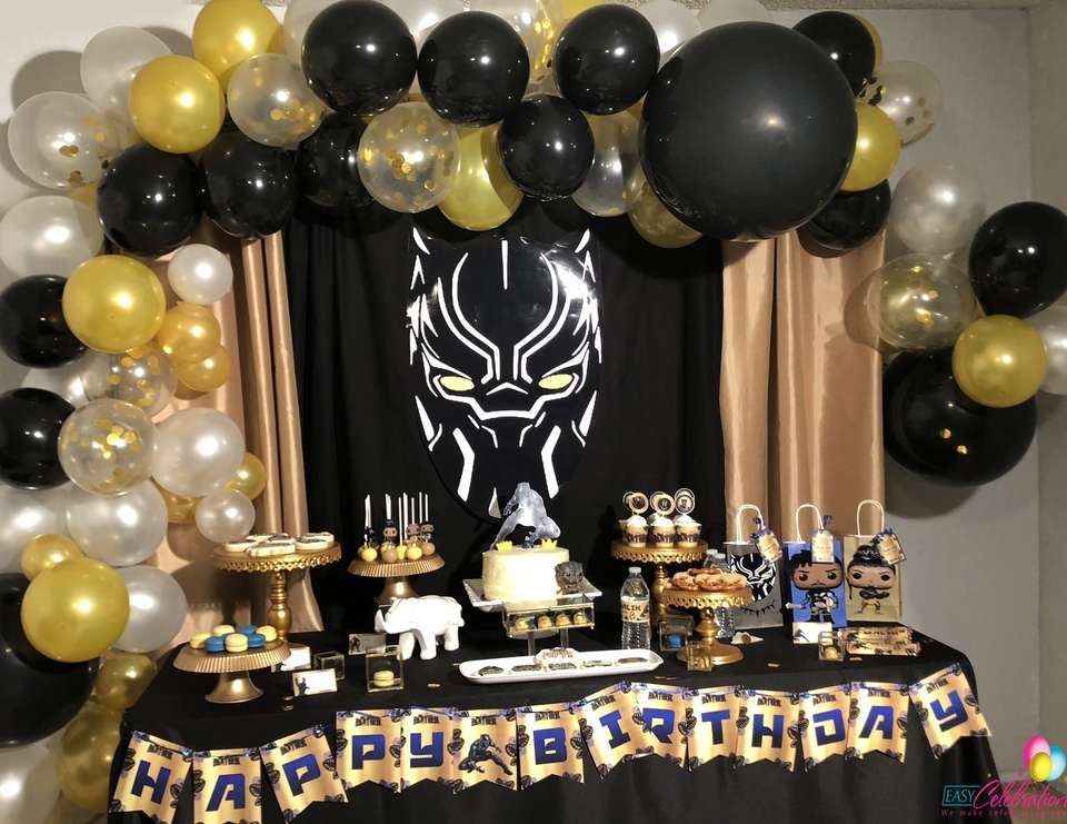 Black Panther Birthday Malik S 8th Wakanda Black Panther Party