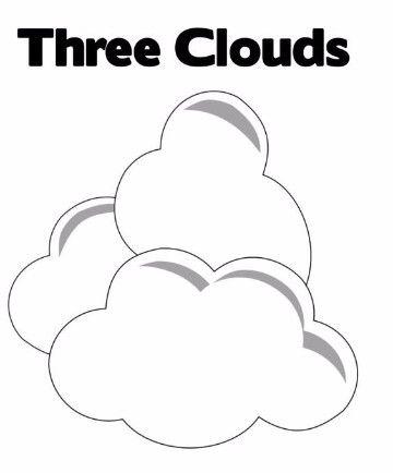 imagenes de nubes para colorear para colorear | Cuidado Del Planeta ...
