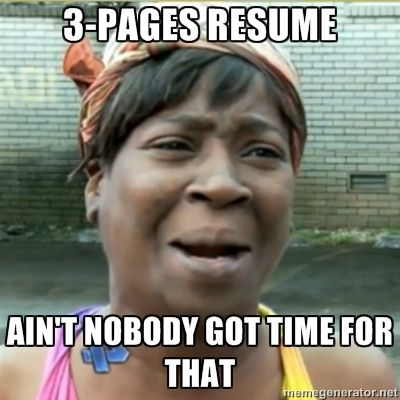 Image result for resume writer meme