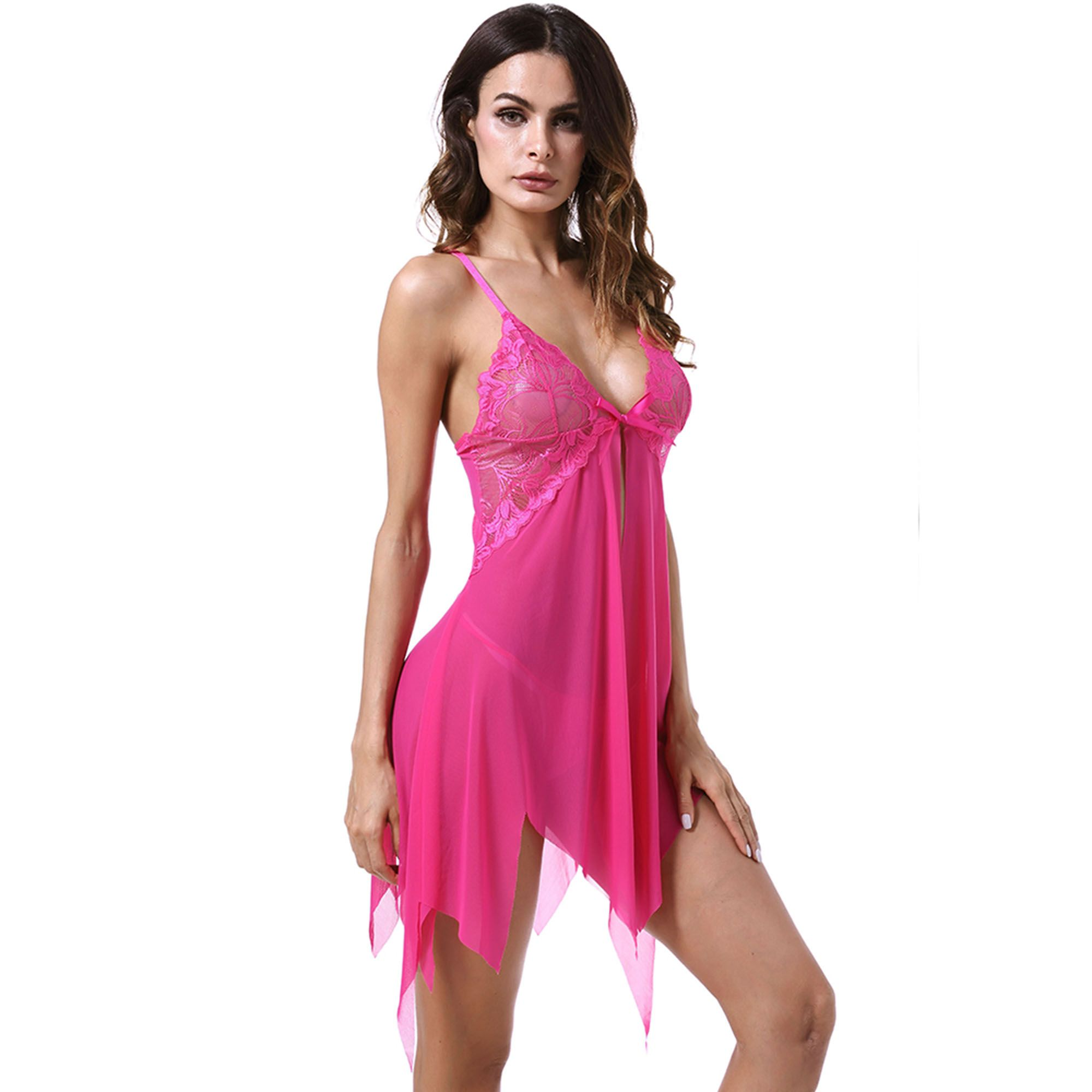9fa405c51 Acappella Chemise Lingerie Sexy Nightie Full Slips Lace Babydoll Sleepwear  with G String Green Small Sexy