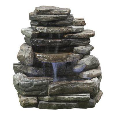 Perfect Garden Treasures Rock Wall Fountain
