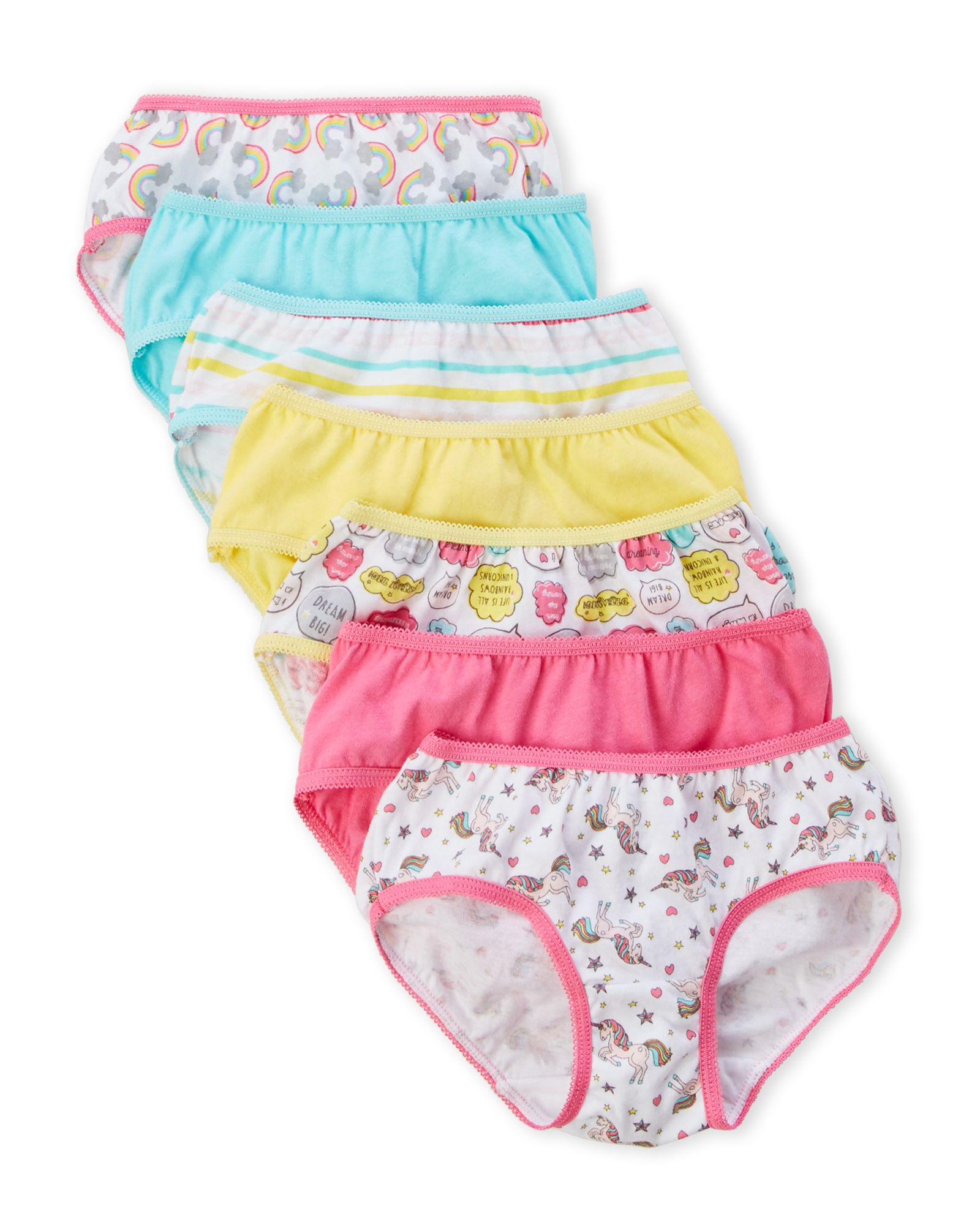 Rene Rofe Toddler Girls 7 Pack Unicorn Panties