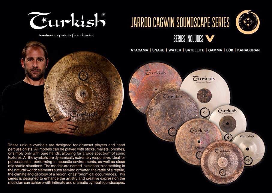 Jarrod Cagwin Soundscape Cymbals From Turkish Cymbals Cymbals Drum Set Percussionist