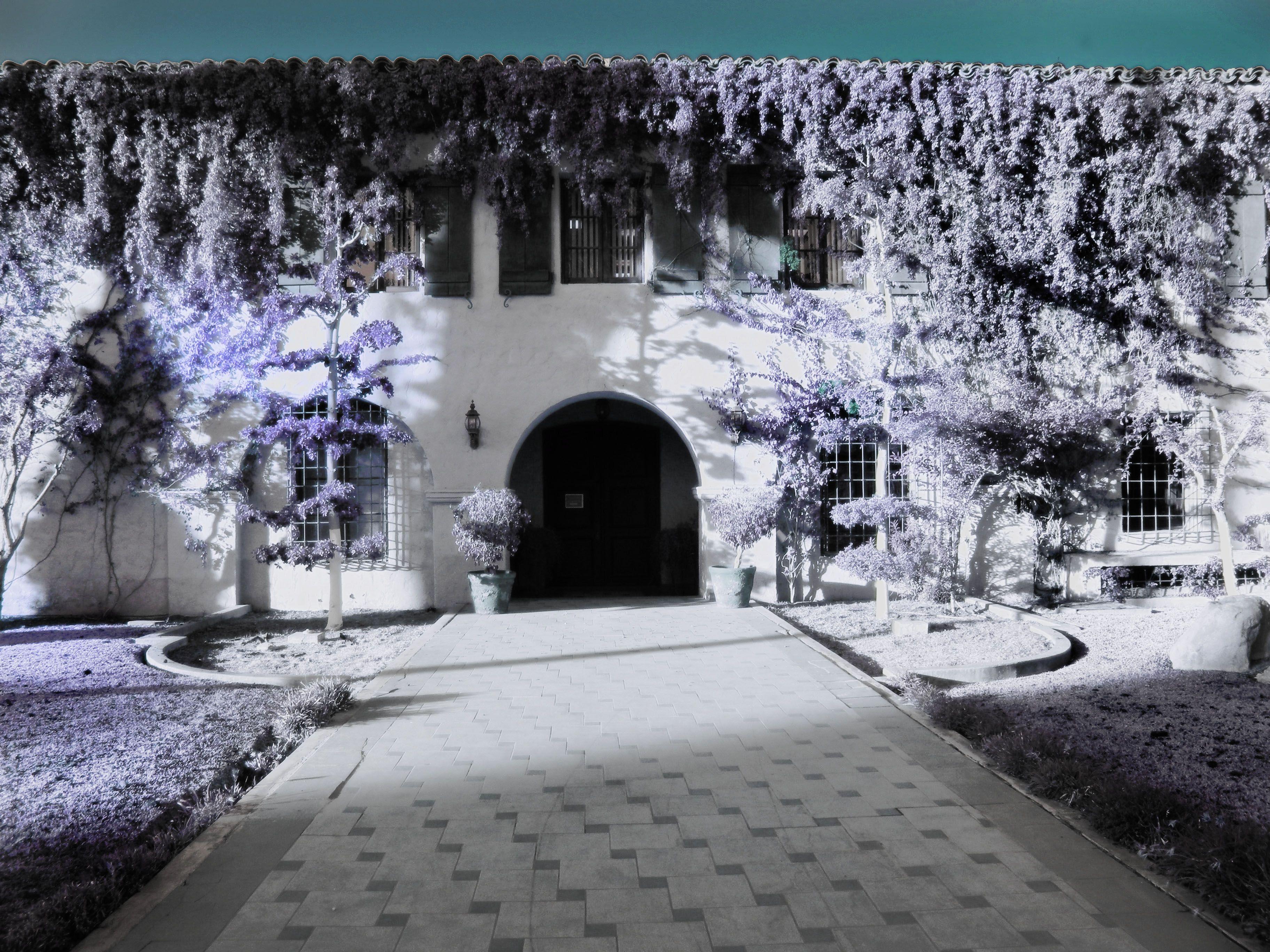 Jardín de las ex oficinas de la Colorado Riverland Company, Mexicali, B.C.