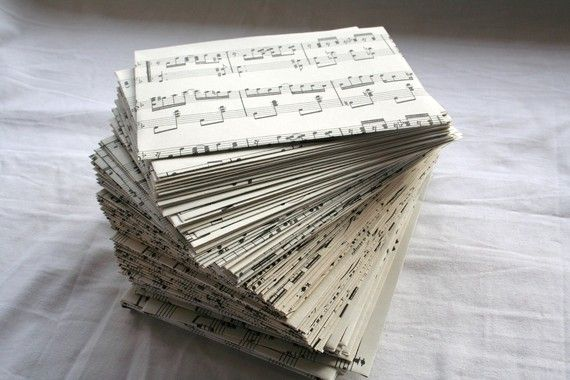 Custom Listing for Rachel0098 Music Note Envelopes