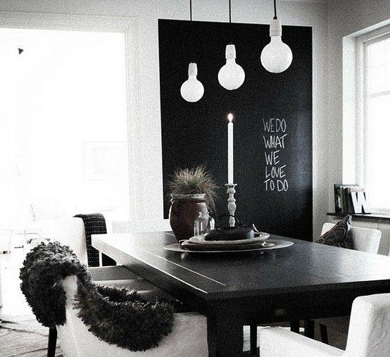 Comedor. Pintura blanca y muebles negros   Deco   Pinterest ...