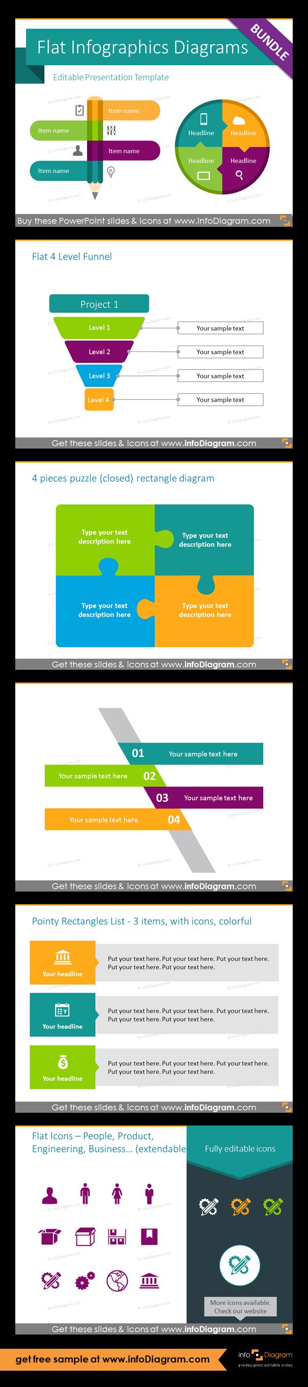 Infographics powerpoint templates with modern flat design editable infographics powerpoint templates with modern flat design editable diagrams and vector icons flat 4 level toneelgroepblik Gallery