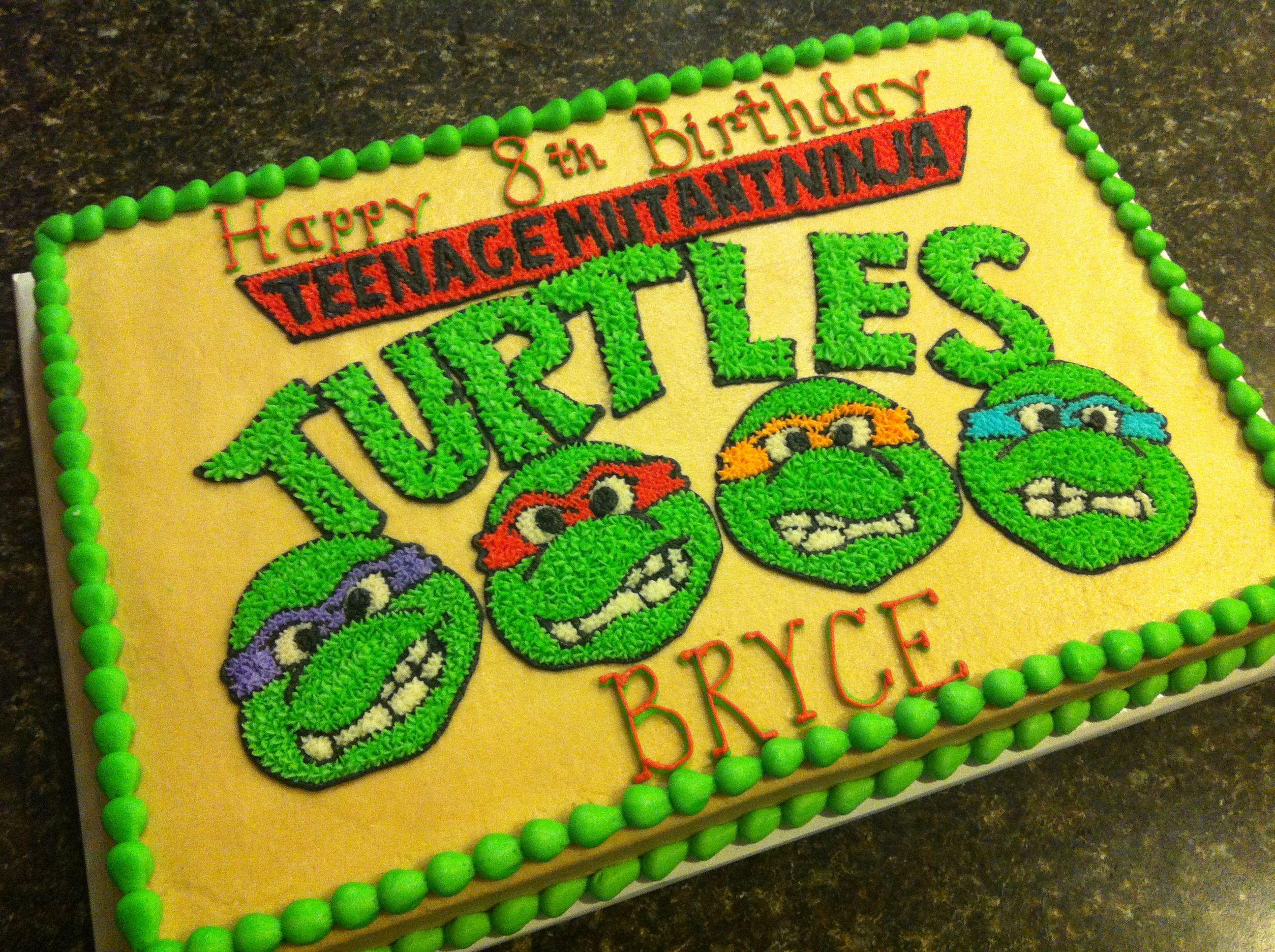 TMNT cake … | Ninja turtle birthday cake, Ninja turtle ...