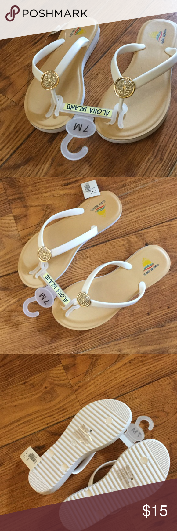 311afd9026ff8 NWT white diamond Aloha Island Sandals. BRAND NEW! Authentic Aloha Island  Sandals Flip