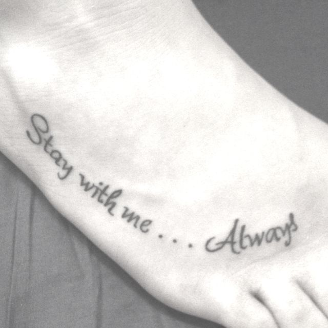 Both my feet have tattoos already but I love this!