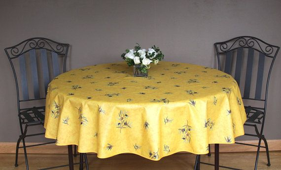 French Provencal 42 or 60 inches Round  Table by SoleildeProvence, $44.00