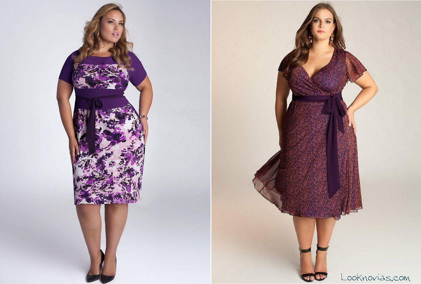Modelos de vestidos de gasa para gorditas