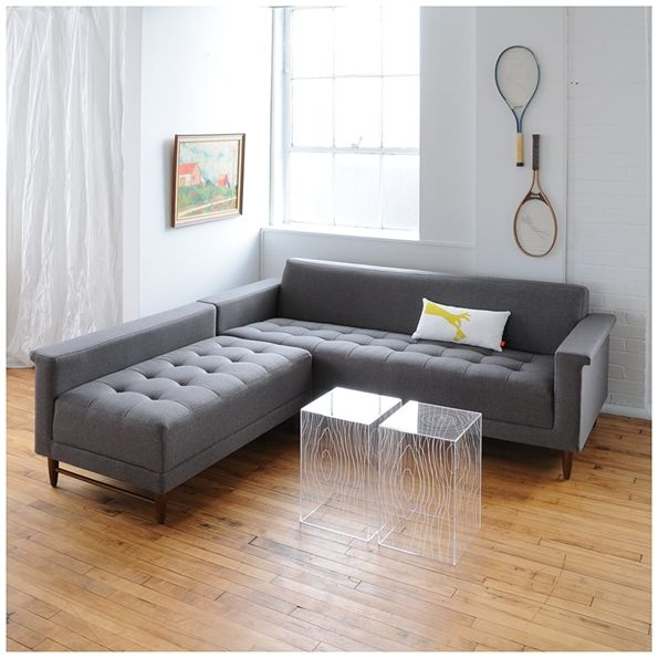 Gus Modern Harbord Loft Bi Sectional Sofa In Totem Storm