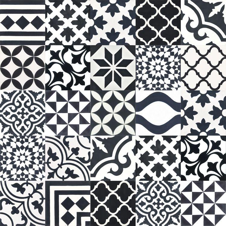 Zementfliesen Patchwork zementfliesen patchwork schwarz weiß black and white