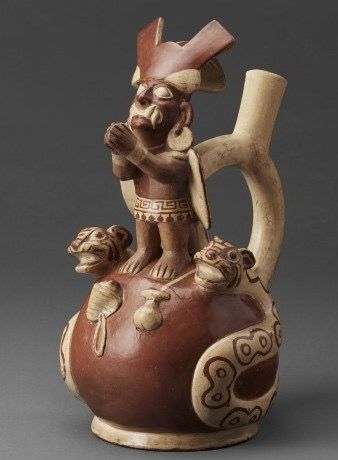 Moche Ai apaec with double headed snake
