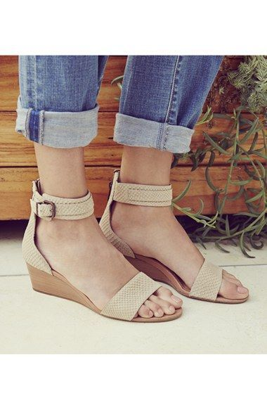 015ef10a236 UGG® Australia  Char Mar  Ankle Cuff Wedge Sandal (Women ...