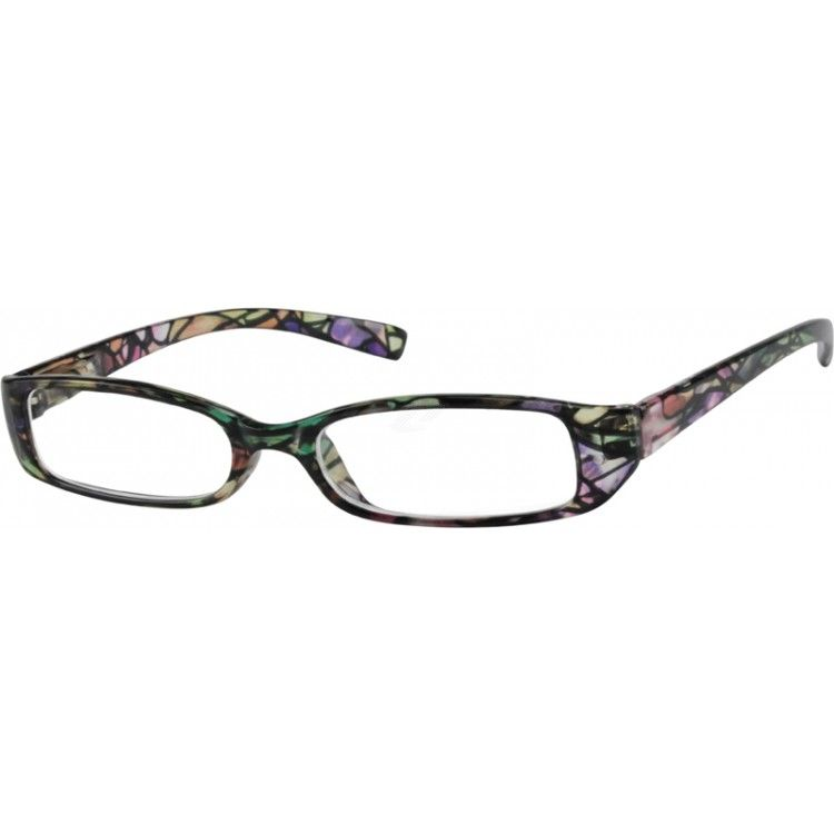 Green Rectangle Glasses #263824 | Zenni Optical Eyeglasses ...