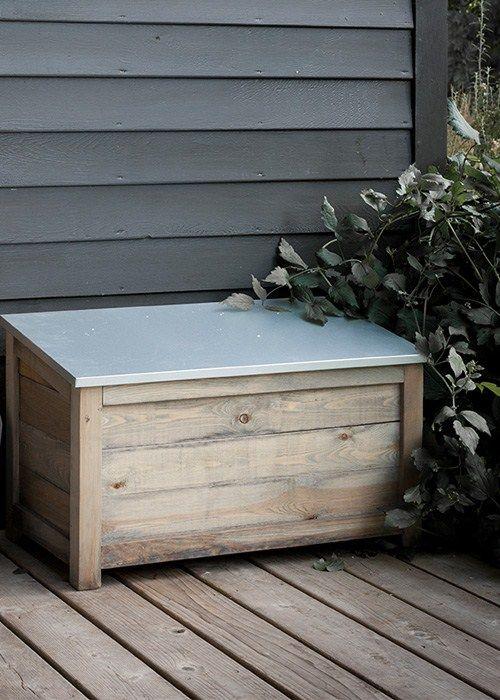Wooden Outdoor Storage box at Garden Trading & Wooden Outdoor Storage box at Garden Trading | Garden Storage ...