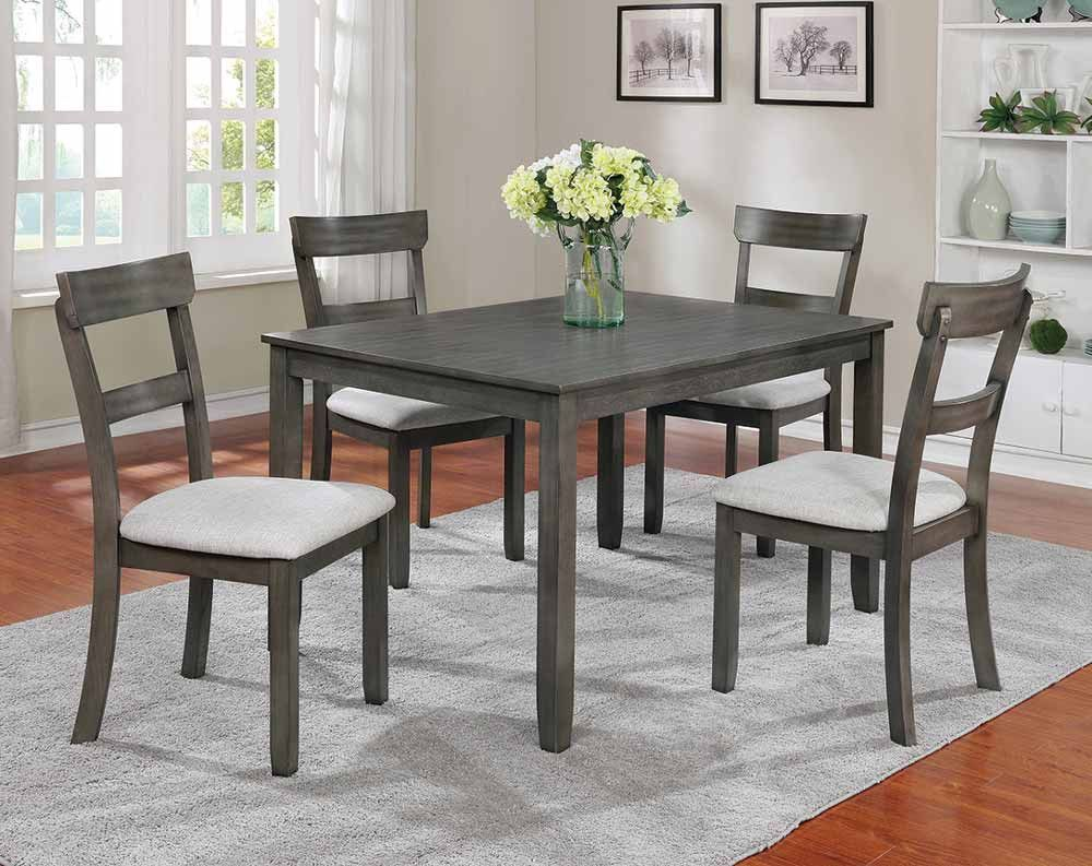 Henderson Grey Dining Collection Solid Wood Dining Set Dinette