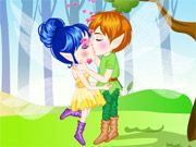 Free Online Girl Games, Two fairies from different parts of the magical forest have developed feelings for each other and they want to kiss!  In Fairy Kissing you must kiss your boyfriend without getting caught by other members of the forest or any woodland creatures!  Watch as the forest grows as you kiss!, #fairy tale #fairy #kissing