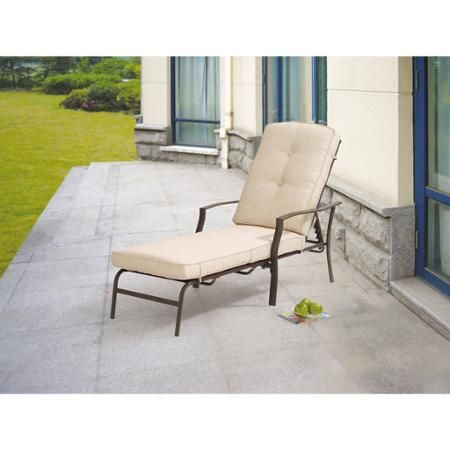 89 00 Mainstays Ashwood Heights Chaise Lounge Outdoor