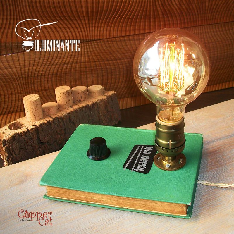 Book Lamp Retro Table Lamp Iluminante By Copper Cat Art Group Steampunk Handwork Technical Specifications L Retro Desk Lamp Lamp Retro Desk