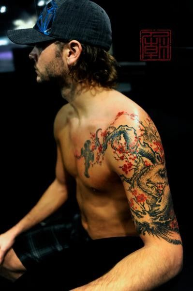 Cherry Blossom Tattoo Designs For Guys Blossom Tree Tattoo Cherry Blossom Tattoo Men Cherry Blossom Tattoo
