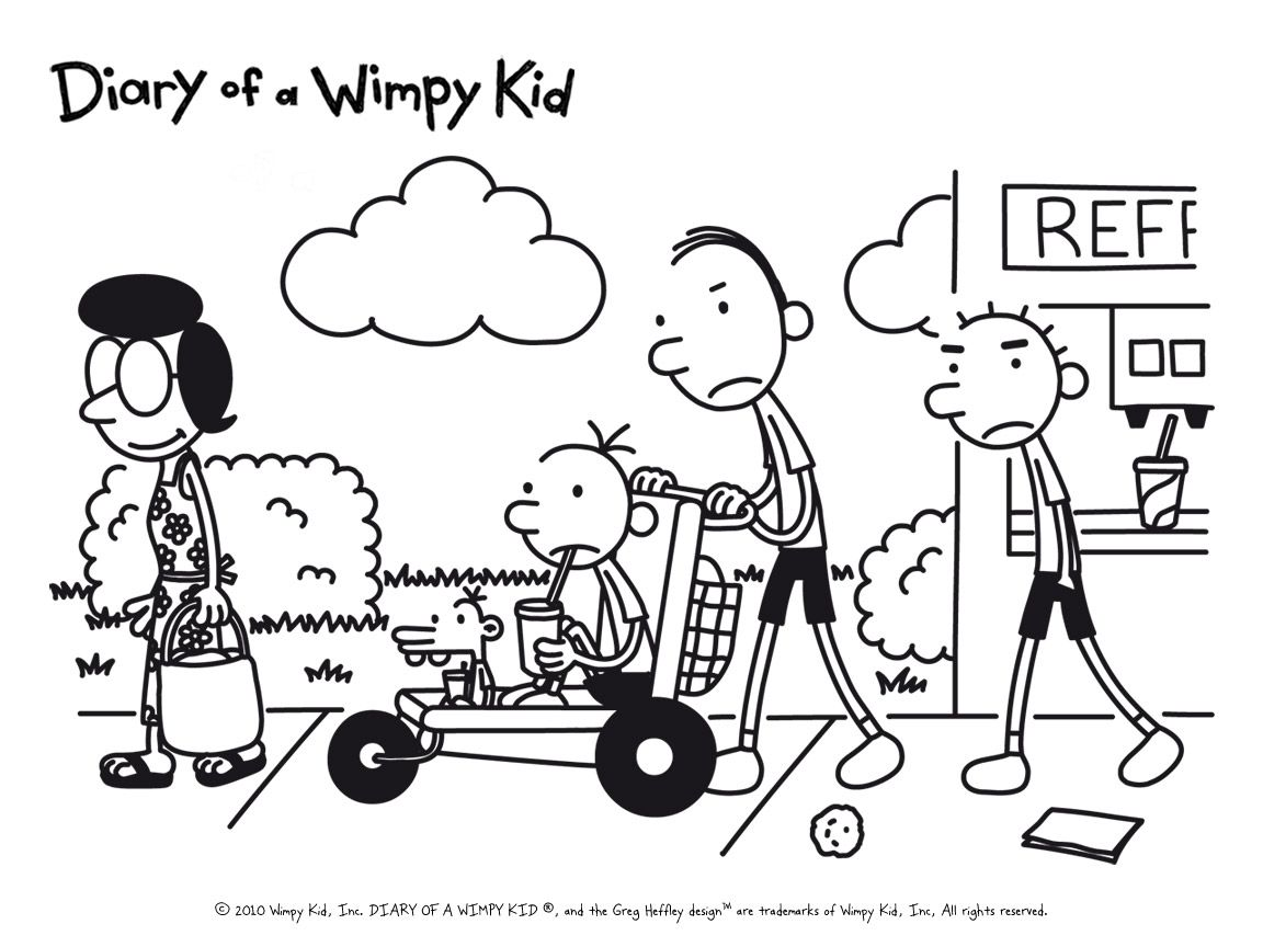 Pin By Titus Osikoya On Art Wimpy Kid Coloring Pages Coloring