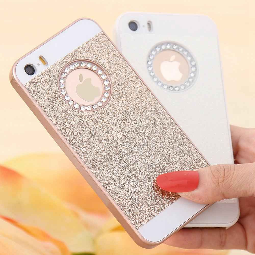 5b0075038a0 Luxury Bling Glitter Crystal Hard Back Phone Case Cover For Iphone 5S 6 6S  7Plus
