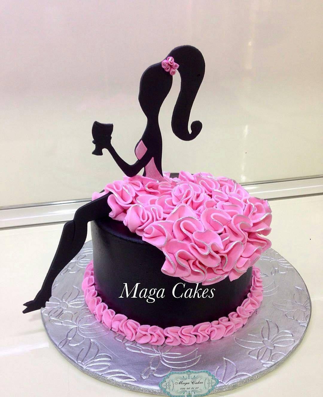 PRETTY Girly Girl Cake via @maga_cakes ️ ️ ️#Cakebakeoffng ...