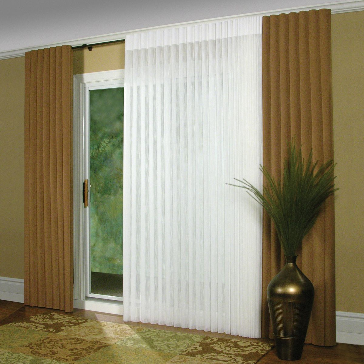 Pretty window treatment for patio door. Need more ideas?? Visit ...