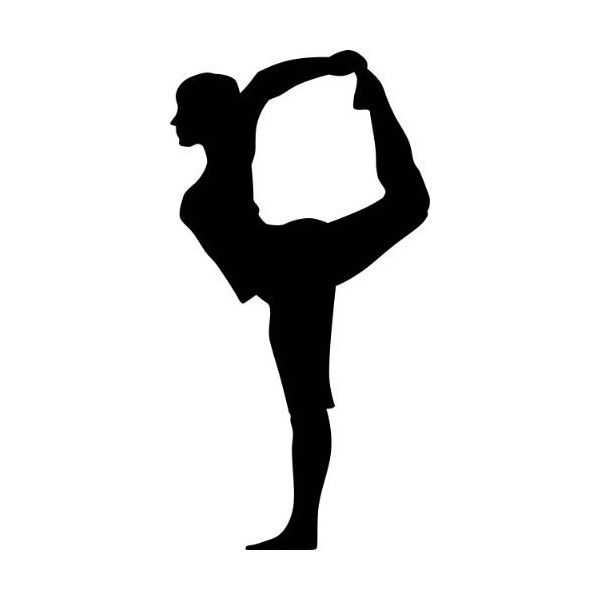 Yoga Silhouette Wall Decals Yoga Lord Of The Dance Pose