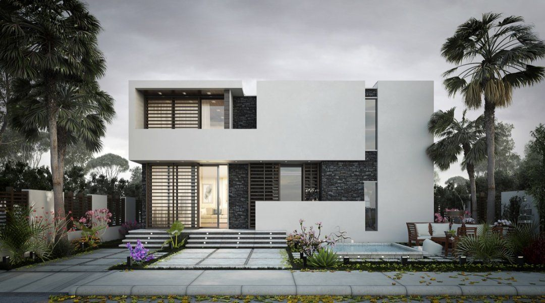 outer design of beautiful small houses exterior modern villa house ...