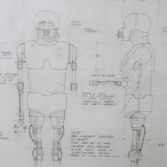 Star wars blueprint of a medical droid taken from the star wars star wars blueprint of a medical droid taken from the star wars blueprint book cut and fixed into frames to offer an unusual art piece malvernweather Image collections