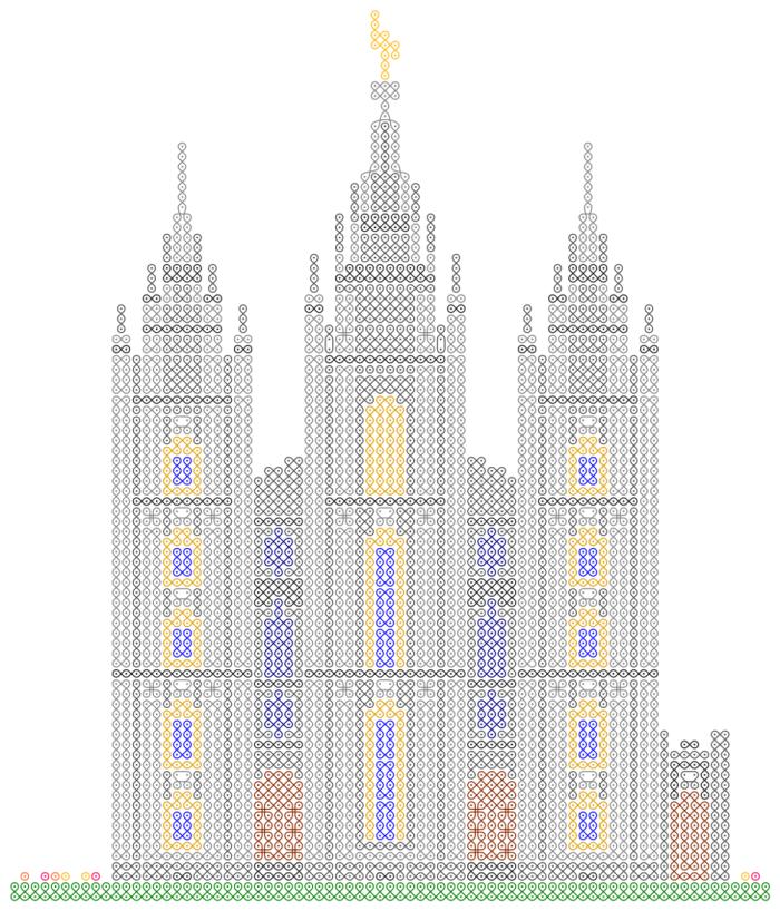 Patrones de Templos a punto de cruz | Mujeres jóvenes, Templo y ...
