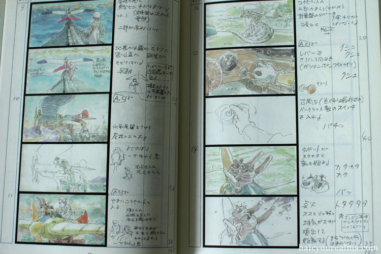 Kaze Tachinu (The Wind Rises) Storyboard Book Review Japanese - anime storyboard