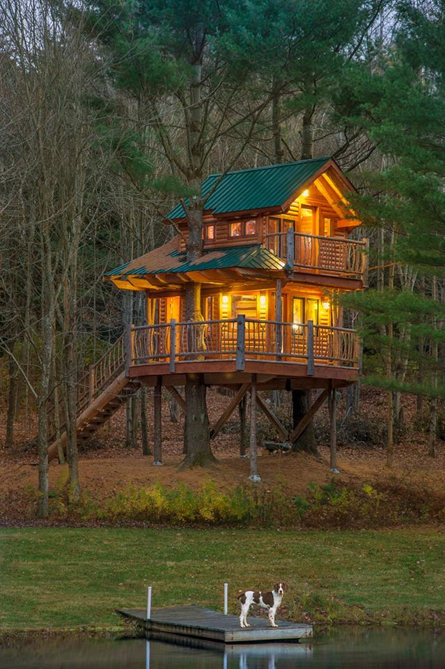Spend The Night In This Cozy Vermont Treehouse For An