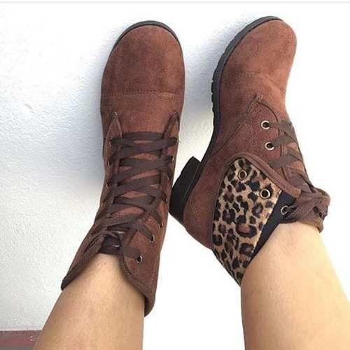 023f09cc1 bota coturno cano curto de amarrar de onçinha | sapatos | Botas