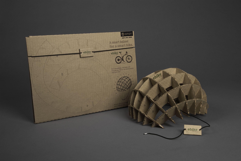 The Mail Helmet   Direct Mail Cardboard Flat Pack Bike Helmet   Award-winning Direct Mail   D&AD   Direct mail marketing, Direct mail, Direct mail advertising