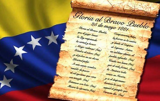 Tus Efemerides 25 De Mayo Dia Del Himno Nacional De Venezuela Dia Del Himno Nacional Venezuela Himno Nacional