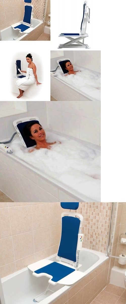Shower and Bath Seats: Bellavita Auto Bath Lifter - Tub Lift - White ...