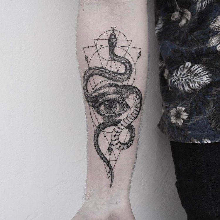 Snake and Eye Tattoo - Tattoo MAG