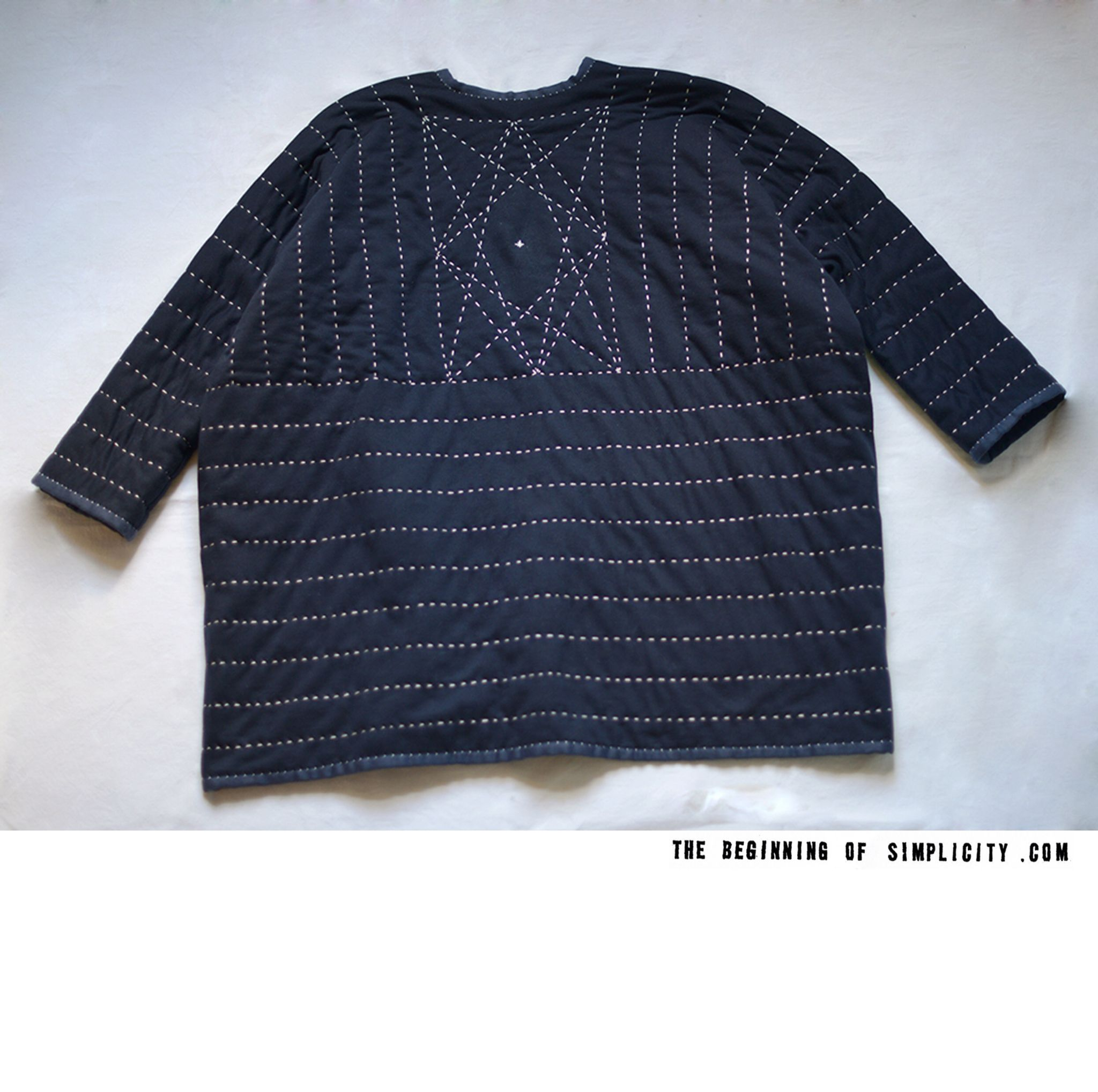 Made to order all handstitched SASHIKO Diamond coat is available now online