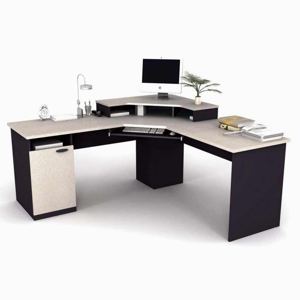 office desk commercial furniture cream small home glass with computer full of printer and buy storage l size shaped best