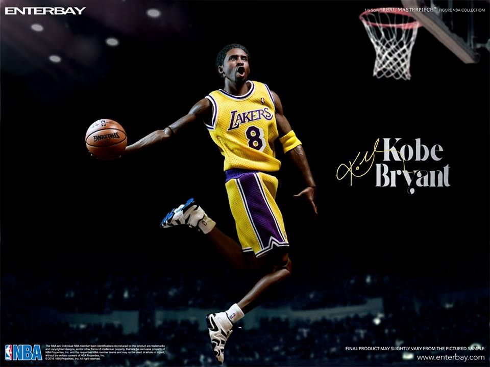 ENTERBAY 1//6 NBA Collection Los Angeles Lakers Kobe Bryant Action Figure statue